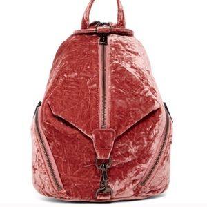 Rebecca Minkoff pink velvet medium Juilan Backpack